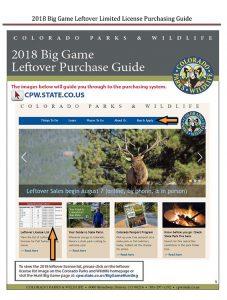 Big Game Hunting - Leftover License Update - Colorado Outdoors Online %